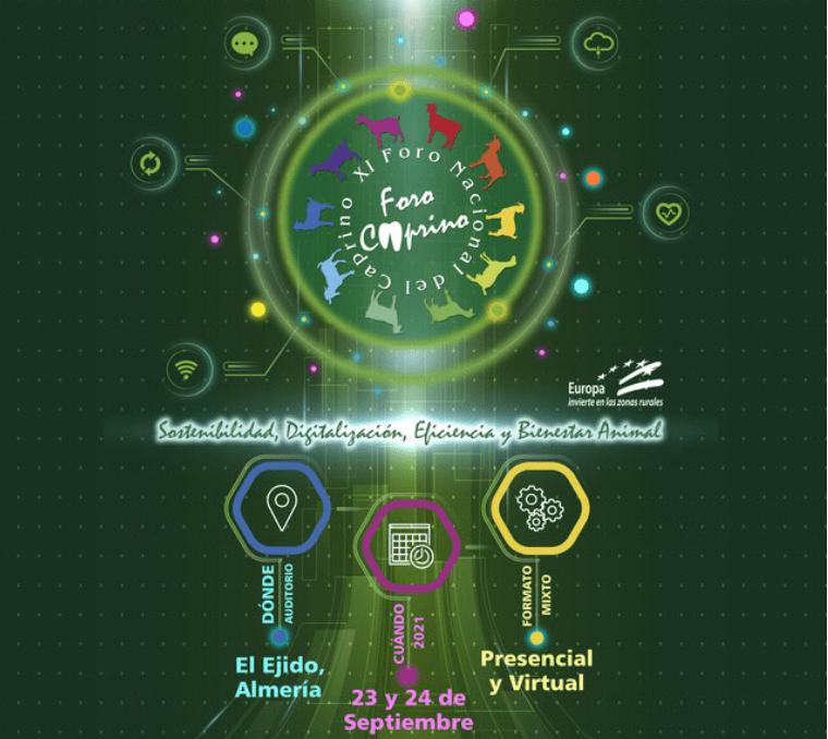 El XI Foro Nacional del Caprino se celebrará en formato mixto los días 23 y 24 de septiembre 2021