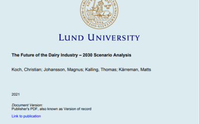 The Future of the Dairy Industry – 2030 Scenario Analysis